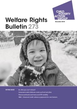 Description: Welfare Rights Bulletin - Issue 273