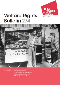Description: Welfare Rights Bulletin - Issue 274