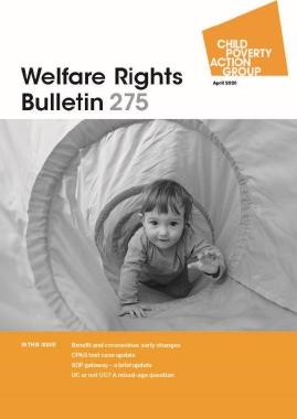 Description: Welfare Rights Bulletin - Issue 275
