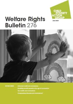 Description: Welfare Rights Bulletin - Issue 276