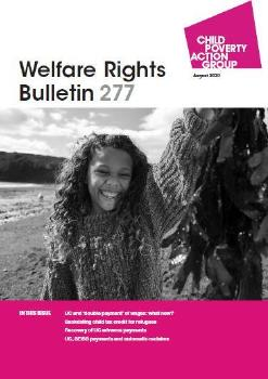 Description: Welfare Rights Bulletin - Issue 277