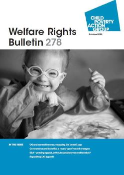 Description: Welfare Rights Bulletin - Issue 278