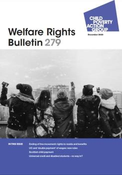 Description: Welfare Rights Bulletin - Issue 279